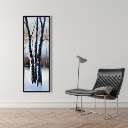 Framed 16 x 48 - Frosted trees