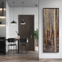 Framed 16 x 48 - The dark forest