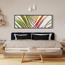 Framed 16 x 48 - Watercolor tropical palm leave
