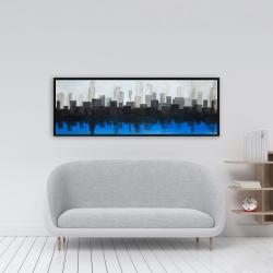 Framed 16 x 48 - Blue city