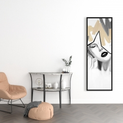 Framed 16 x 48 - Divided woman