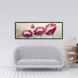 Framed 16 x 48 - Three wild flowers