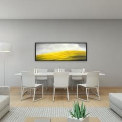 Framed 16 x 48 - Yellow hill