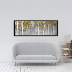 Framed 16 x 48 - Birch forest