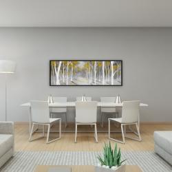 Framed 16 x 48 - Yellow birch forest