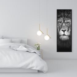 Framed 16 x 48 - Lion portrait