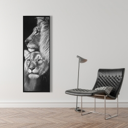 Framed 16 x 48 - Lion and lioness