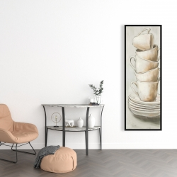 Framed 16 x 48 - Stacked cups