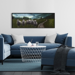 Framed 16 x 48 - Sheep in the countryside