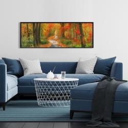 Framed 16 x 48 - Autumn trail