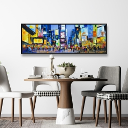 Framed 16 x 48 - Cityscape in times square