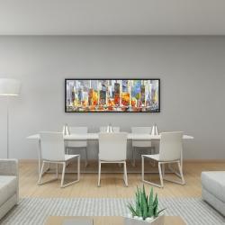 Framed 16 x 48 - Color splash cityscape