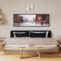 Framed 16 x 48 - Classic street scene