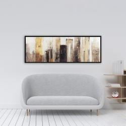 Framed 16 x 48 - Earthy tones city