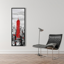 Framed 16 x 48 - Empire state building of new york