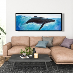 Framed 20 x 60 - Blue whale