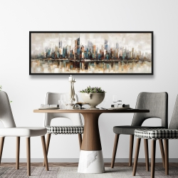 Framed 20 x 60 - Abstract buildings with textures