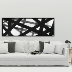 Framed 20 x 60 - Abstract bold lines