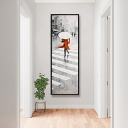 Framed 20 x 60 - Rainy day in the city