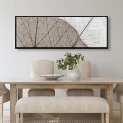 Framed 20 x 60 - Translucent dried leaves