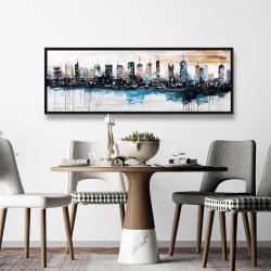 Framed 20 x 60 - Buildings on the horizon