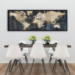 Framed 20 x 60 - Vintage world map