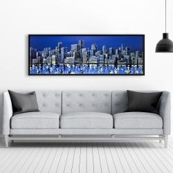 Framed 20 x 60 - City in blue