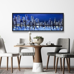 Framed 20 x 60 - Blue skyline