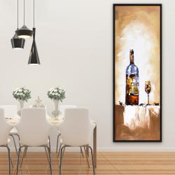 Framed 20 x 60 - White wine