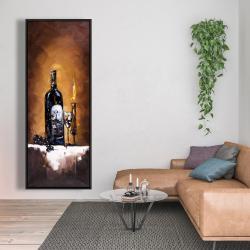 Framed 20 x 60 - Candlelit wine