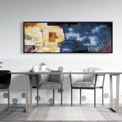 Framed 20 x 60 - Abstract art with numbers