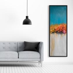 Framed 20 x 60 - Orange flowers bundle