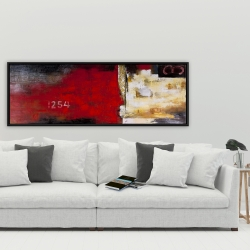 Framed 20 x 60 - Abstract industrial art with numbers