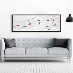 Framed 20 x 60 - Swimming fish swirl