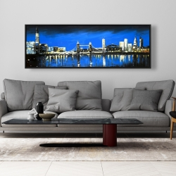 Framed 20 x 60 - Blue skyline of london