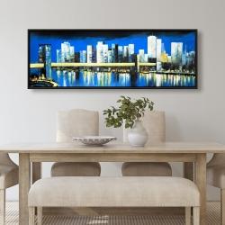 Framed 20 x 60 - Skyline of lower manhattan