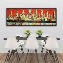 Framed 20 x 60 - View of red city