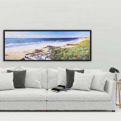 Framed 20 x 60 - Walk to the beach