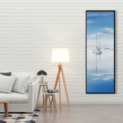 Framed 20 x 60 - Sailboats on the quiet lake