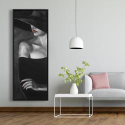 Encadré 20 x 60 - Femme mystérieuse avec un chapeau