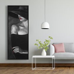 Framed 20 x 60 - Mysterious woman with a hat