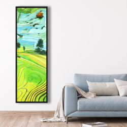 Framed 20 x 60 - Rice fields of vietnam