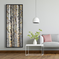 Framed 20 x 60 - Blossoming birches