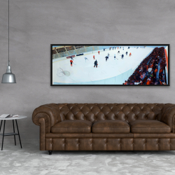 Framed 20 x 60 - Game of hockey