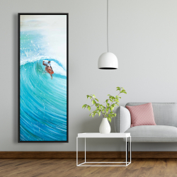 Framed 20 x 60 - Surfer in the middle of the wave