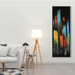 Framed 20 x 60 - Abstract tall buildings
