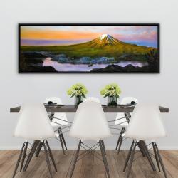 Framed 20 x 60 - Mount fuji landscape