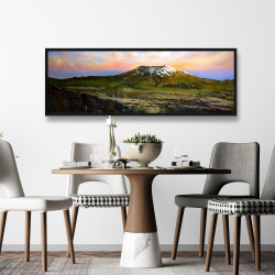 Framed 20 x 60 - Valley and mountains landscape