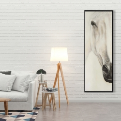 Framed 20 x 60 - Half portrait of a peaceful horse