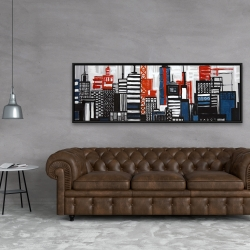 Framed 20 x 60 - Geometric towers and buildings
